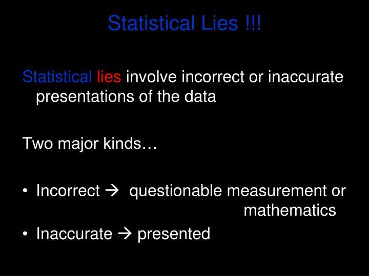 Statistical Lies !!!