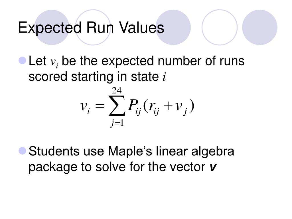 Expected Run Values