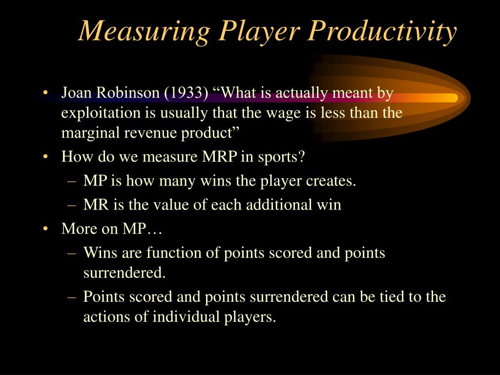Measuring Player Productivity