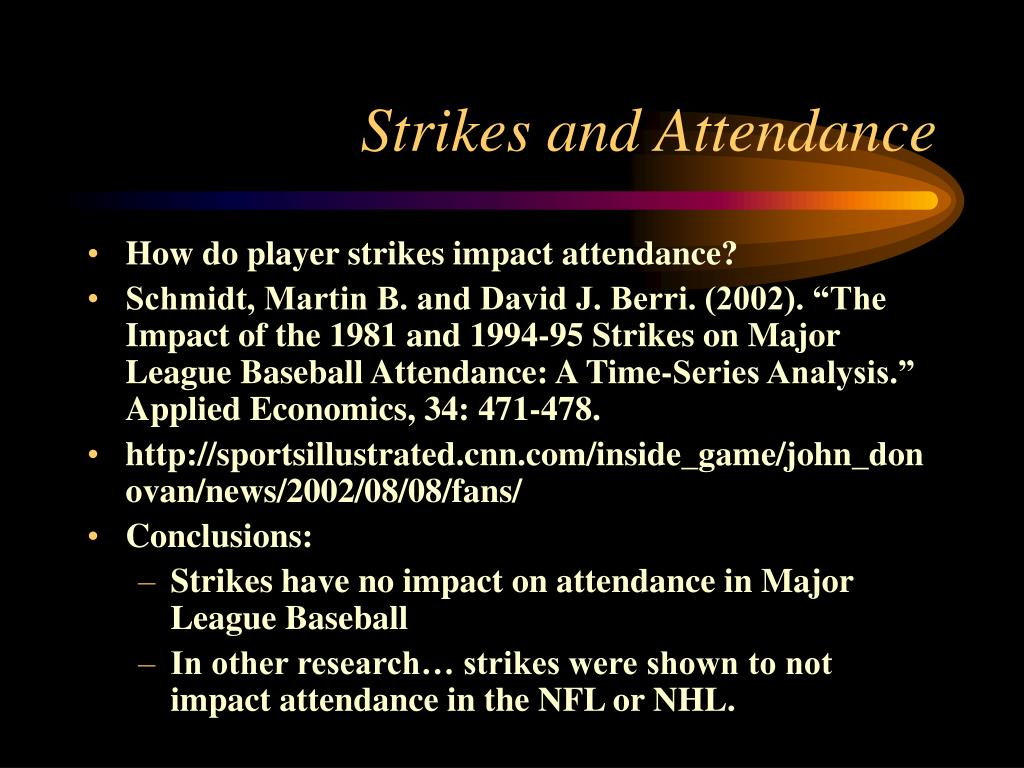 Strikes and Attendance