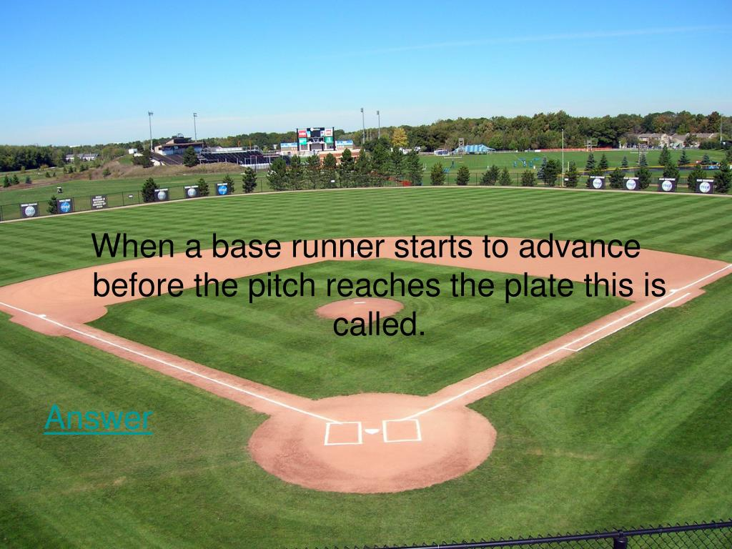 When a base runner starts to advance before the pitch reaches the plate this is called.