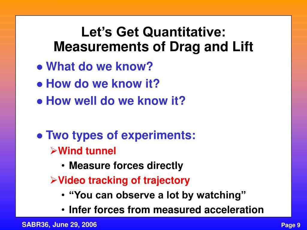 Let's Get Quantitative: