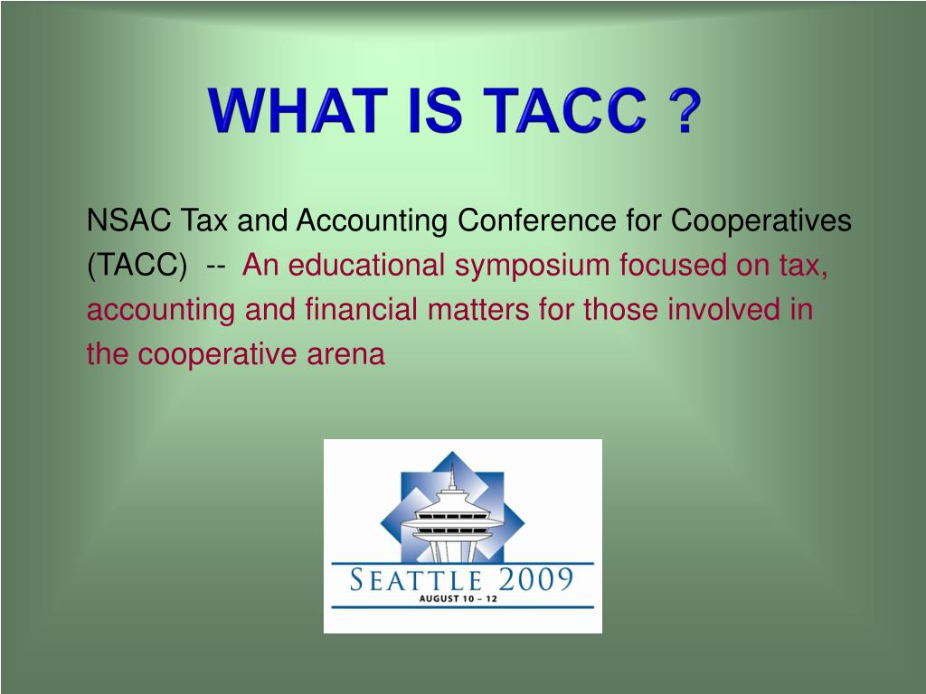 What is TACC ?