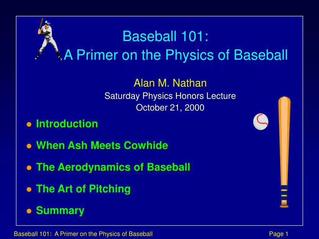 Baseball 101: