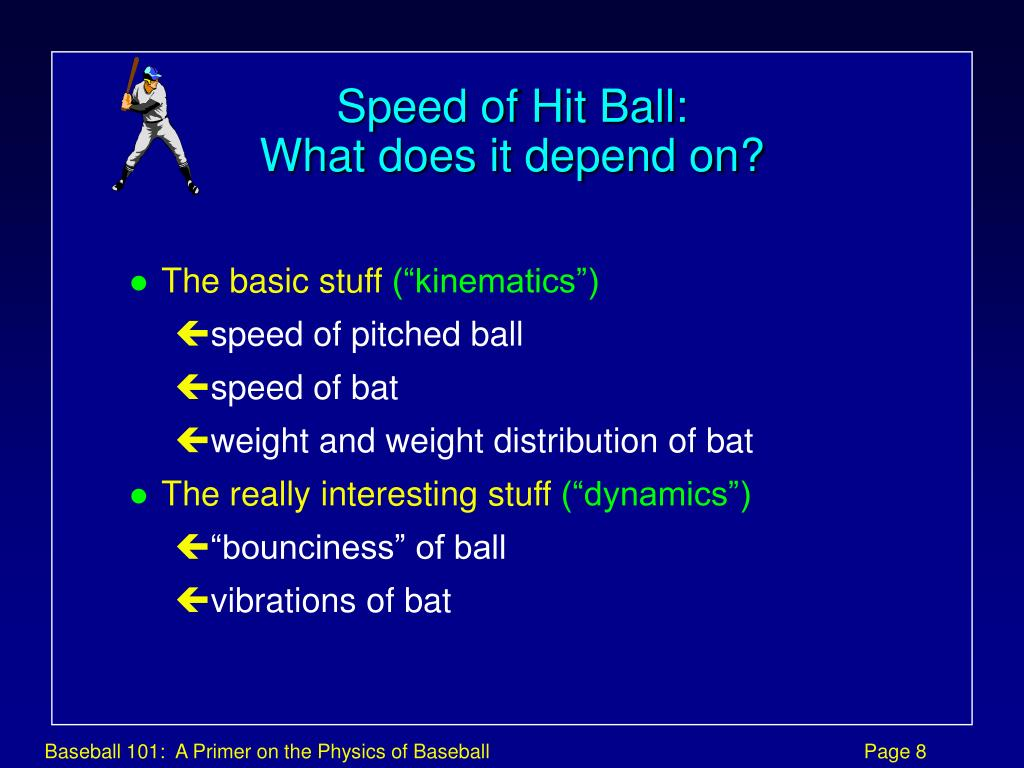 Speed of Hit Ball: