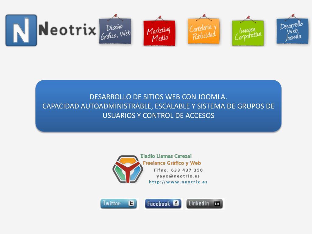 DESARROLLO DE SITIOS WEB CON JOOMLA.