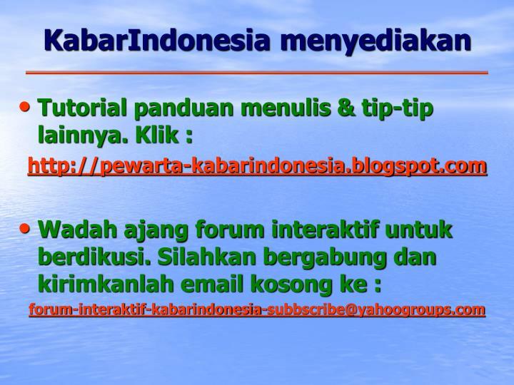 KabarIndonesia menyediakan