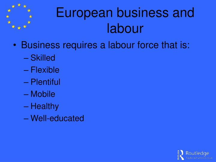 European business and labour