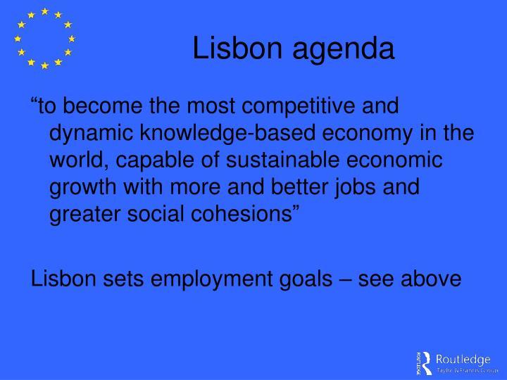 Lisbon agenda