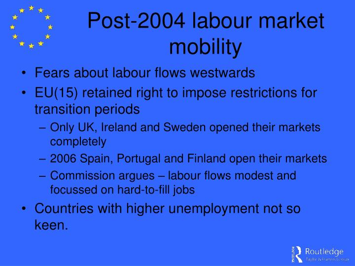 Post-2004 labour market mobility