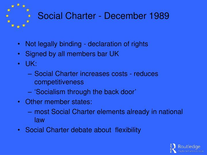 Social Charter - December 1989