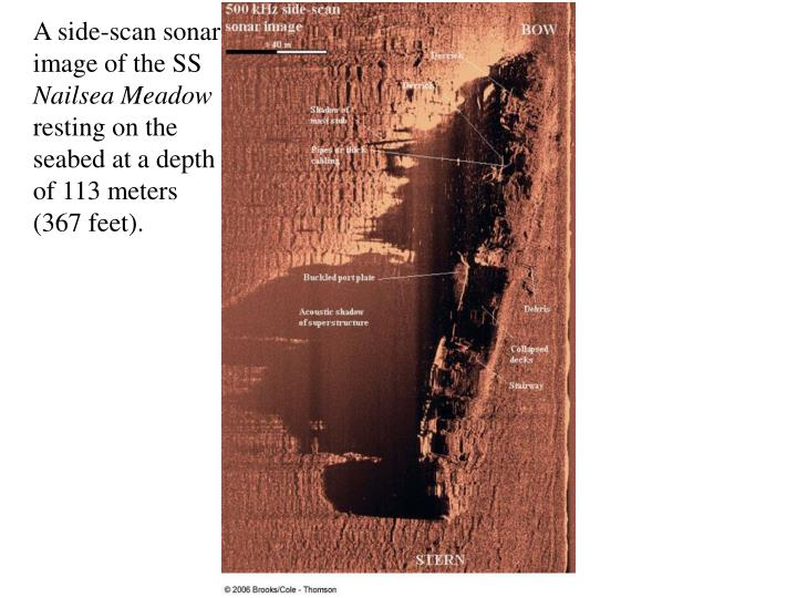 A side-scan sonar
