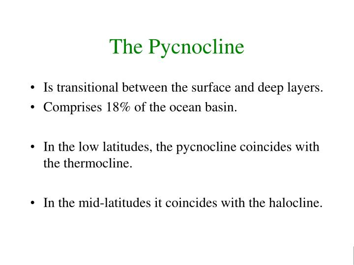 The Pycnocline