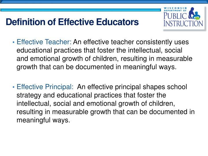 Effective Teacher: