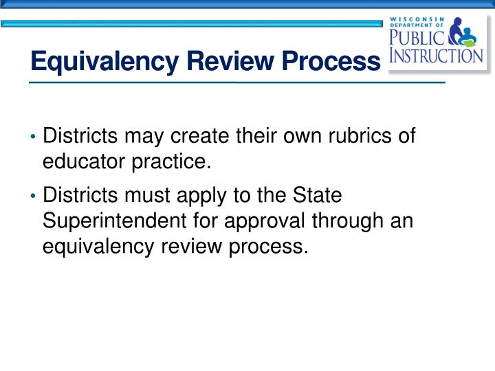 Equivalency Review Process
