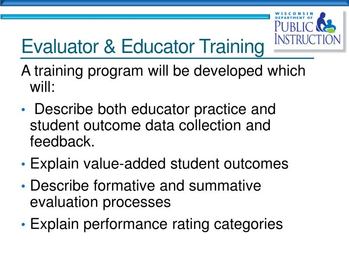 Evaluator & Educator Training
