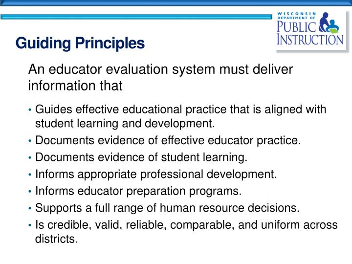 An educator evaluation system must deliver information that