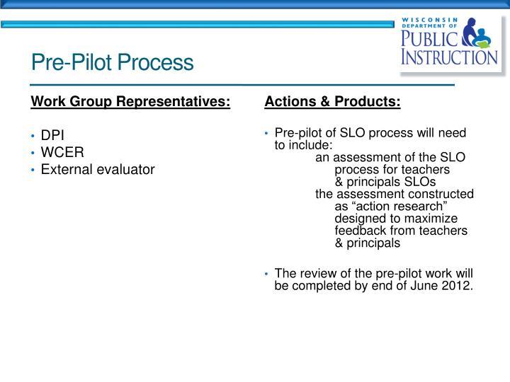 Pre-Pilot Process