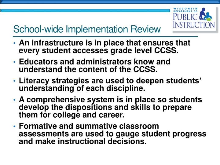School-wide Implementation Review