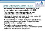 school wide implementation review