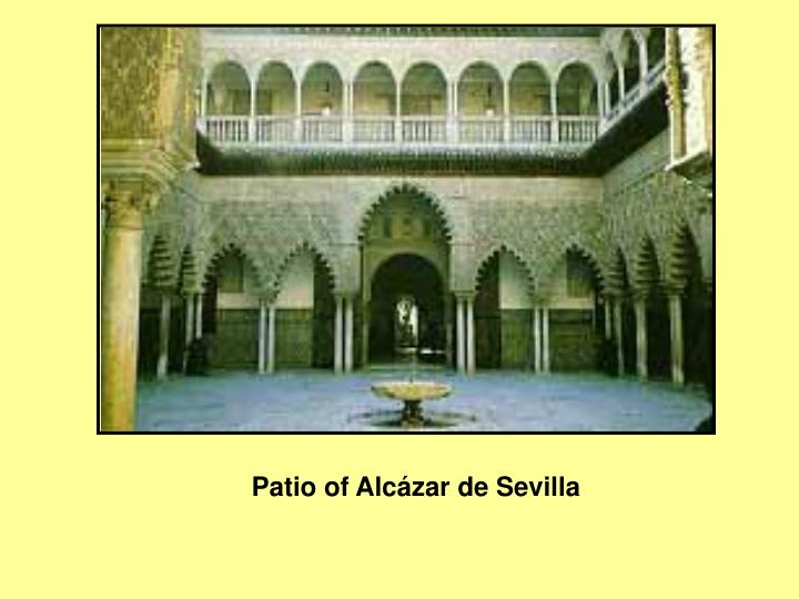 Patio of Alcázar de Sevilla