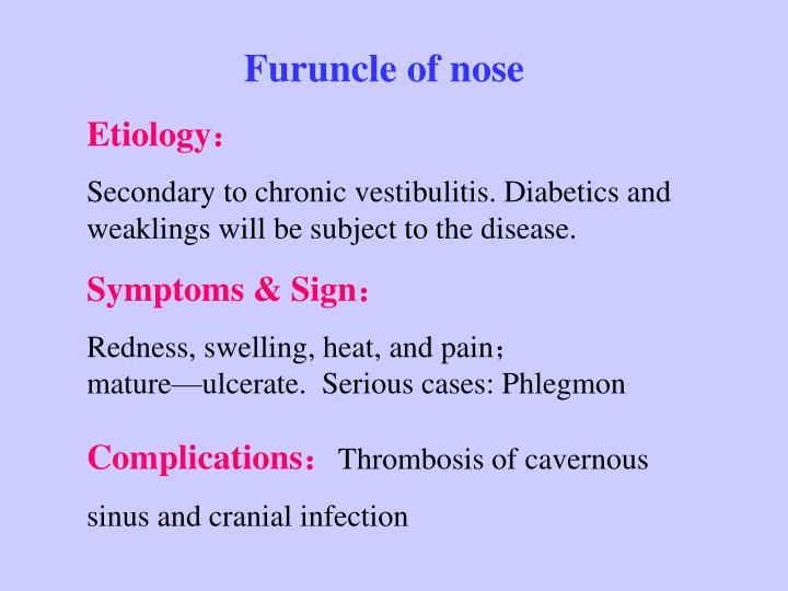 Furuncle of nose