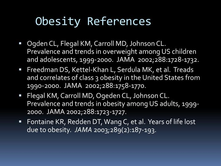 Obesity References