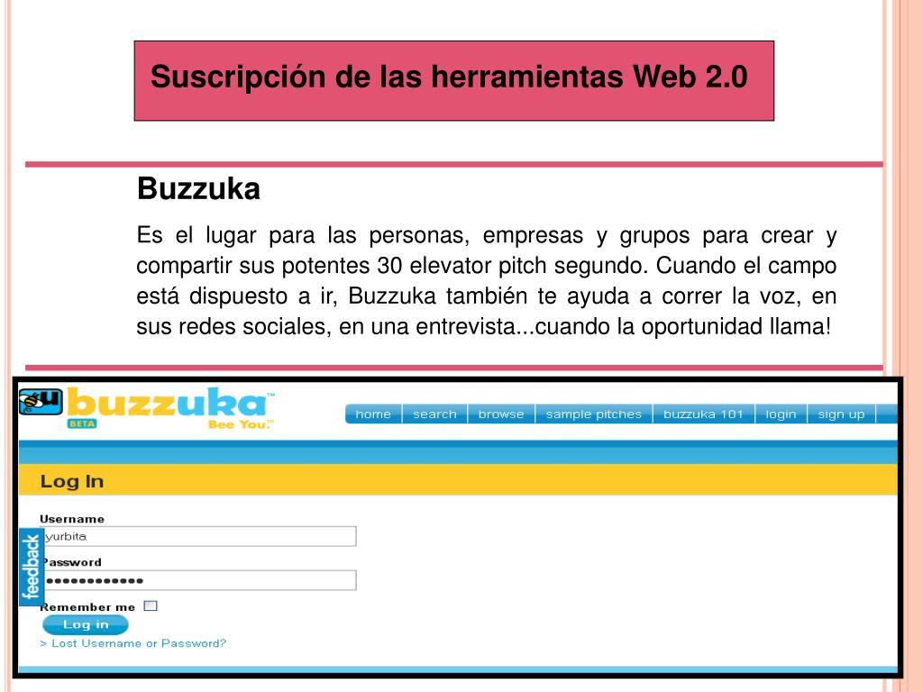 Suscripción de las herramientas Web 2.0