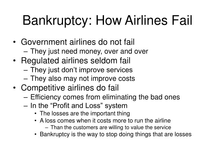 Bankruptcy: How Airlines Fail