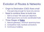evolution of routes networks