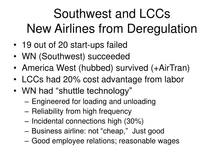 Southwest and LCCs