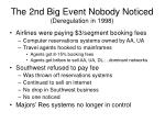 the 2nd big event nobody noticed deregulation in 1998