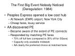 the first big event nobody noticed deregulation 1984