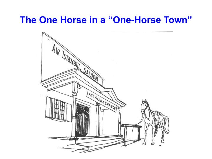 "The One Horse in a ""One-Horse Town"""