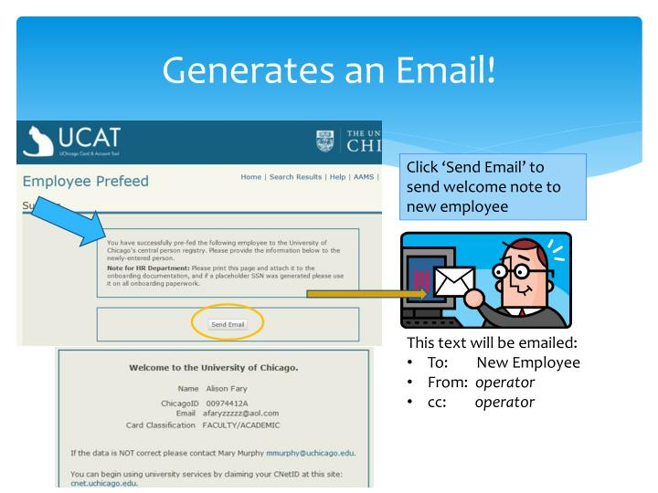 Generates an Email!