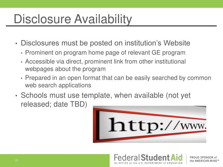 Disclosure Availability
