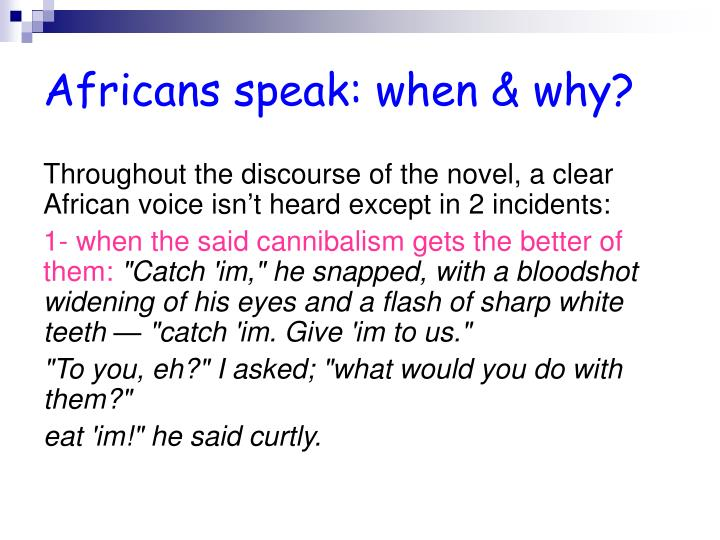 Africans speak: when & why?
