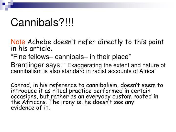 Cannibals?!!!
