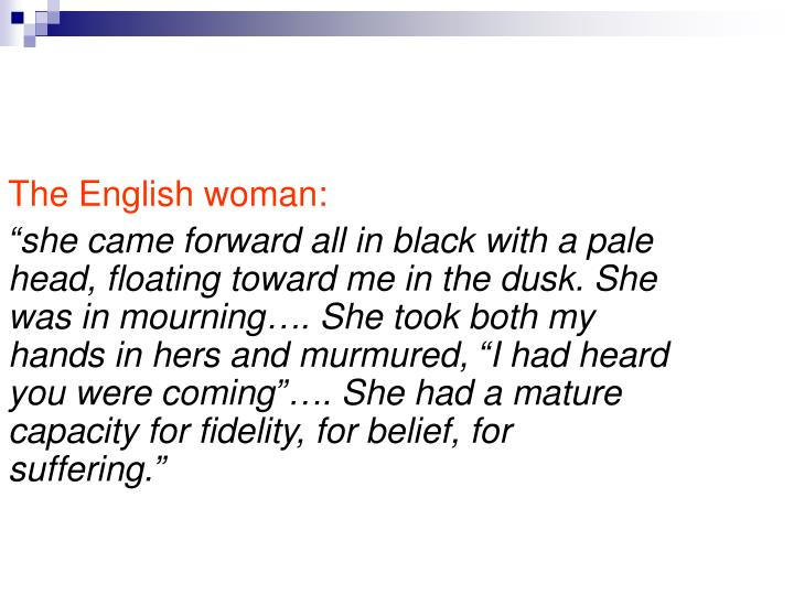 The English woman: