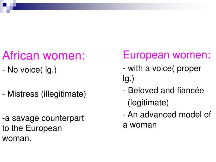 African women: