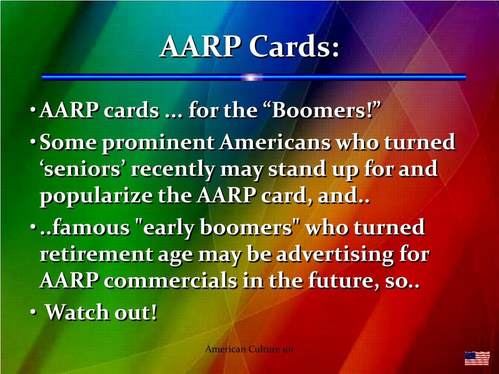 AARP Cards: