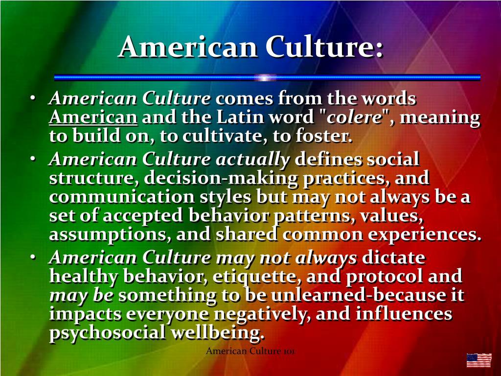 American Culture: