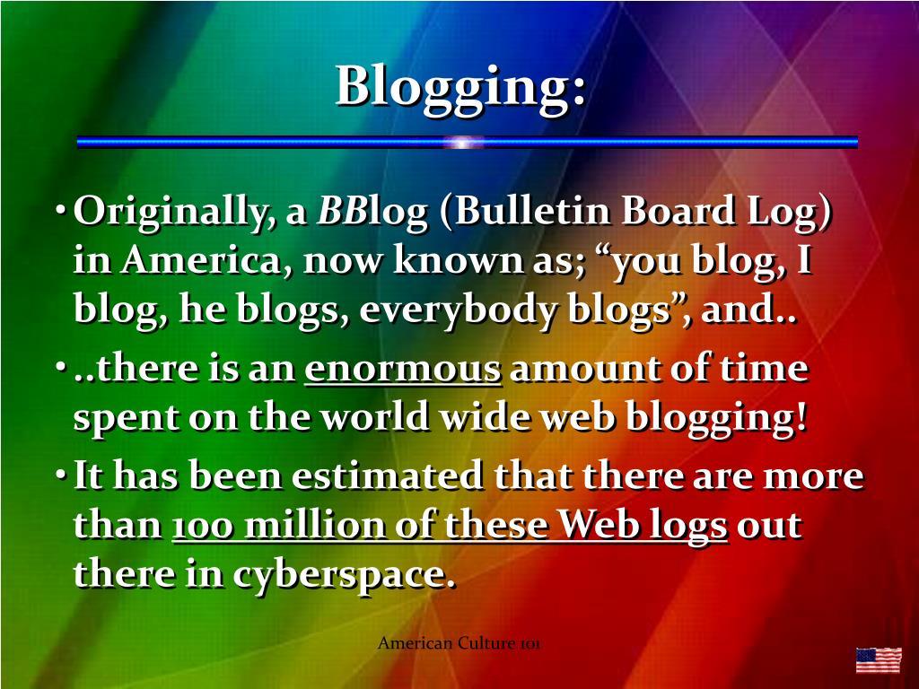 Blogging:
