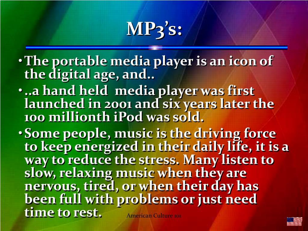 MP3's: