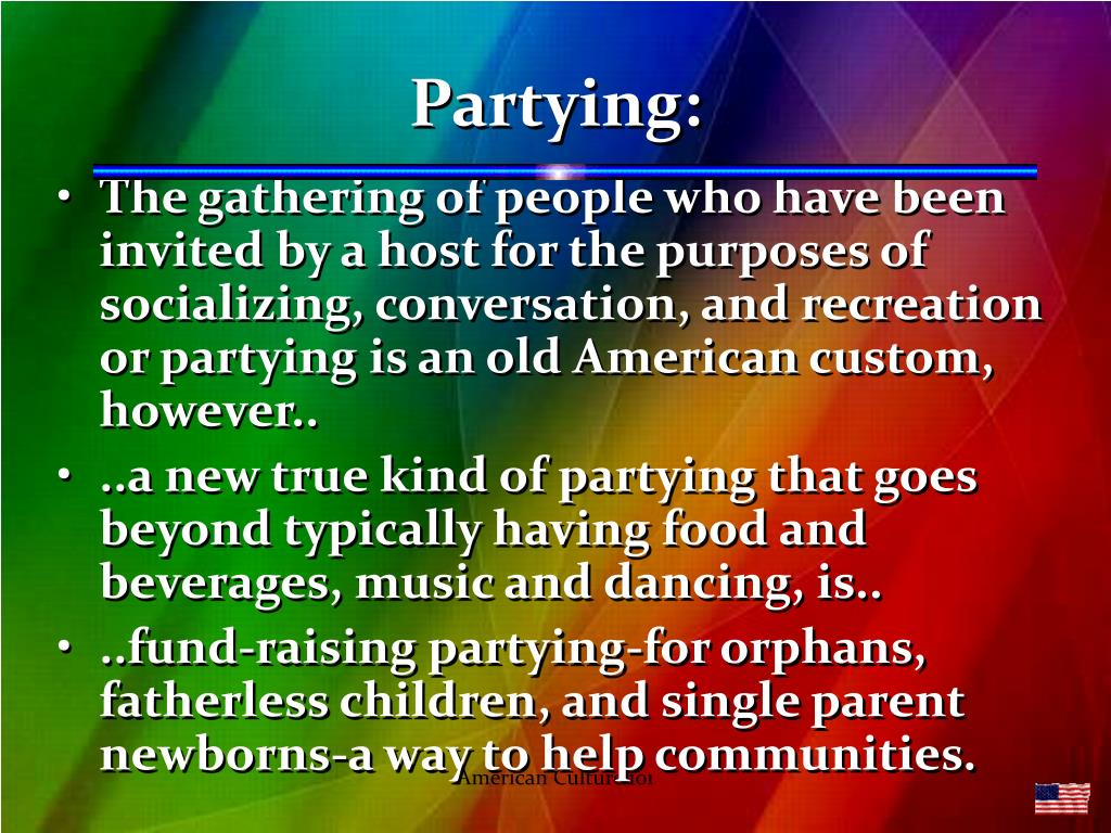 Partying: