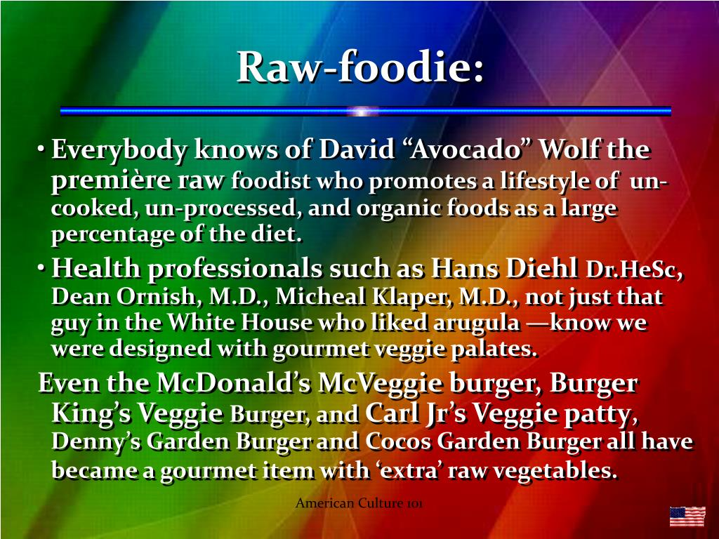 Raw-foodie: