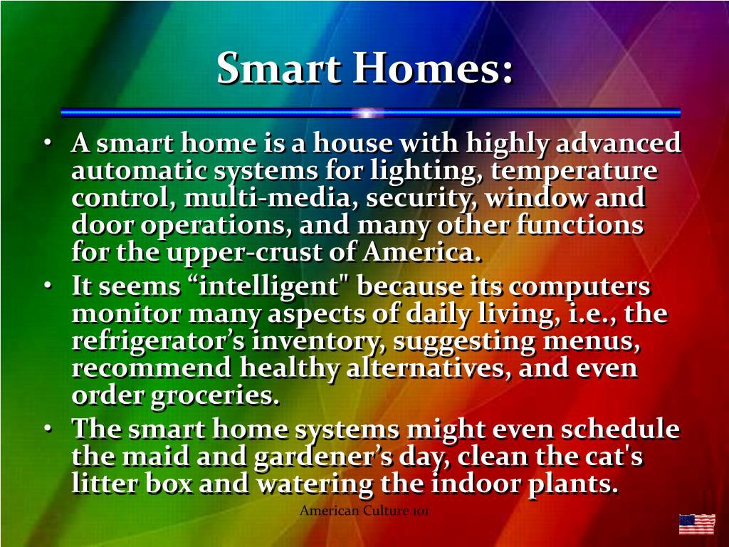 Smart Homes: