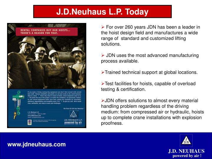 J d neuhaus l p today