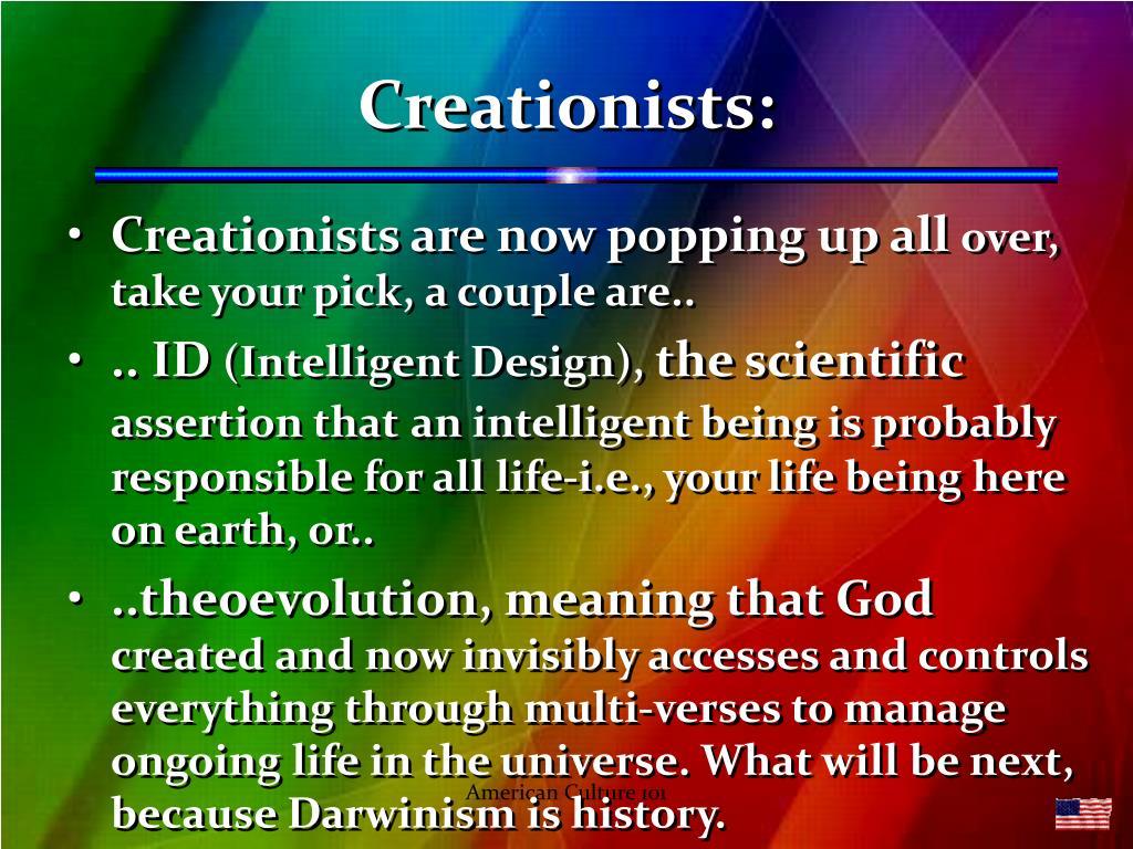 Creationists: