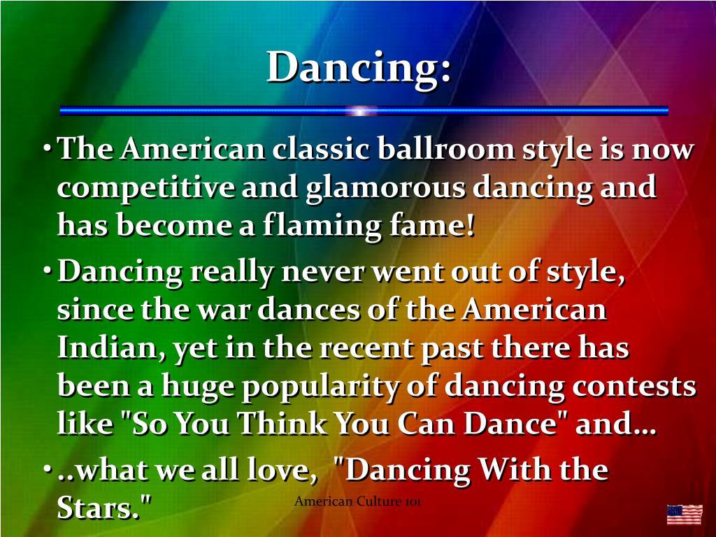 Dancing: